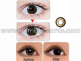 Contact lenses for brown eyes